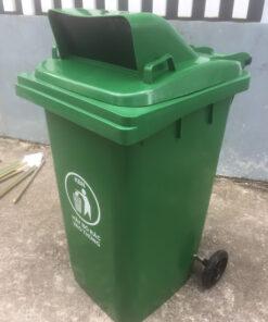 thùng rác nắp hở