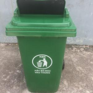 thùng rác nhựa nắp hở 240