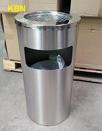 mua thùng rác inox gạt tàn hcm