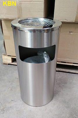 mua thùng rác inox gạt tàn kbn