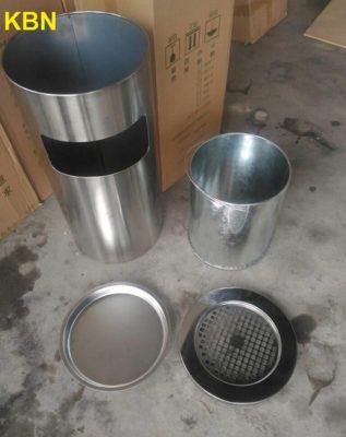 thùng rác inox gạt tàn thuốc kbn
